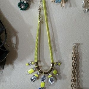 WORN once Neon Yellow/Green necklace